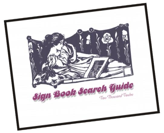 Sign Book Search Guide